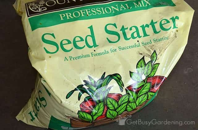 Seedling soil mix for seed starting