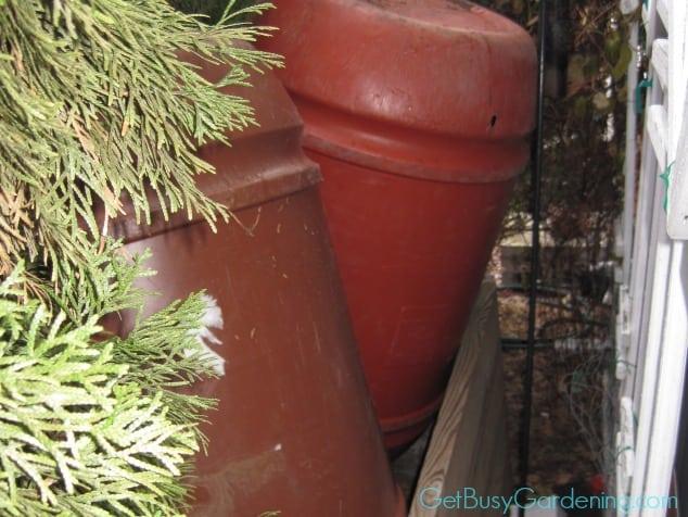 Rain Barrels In Winter Storage