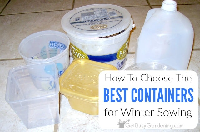 How To Choose The Best Winter Sowing Containers