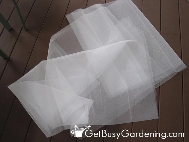 Tulle Fabric Used For Row Covers