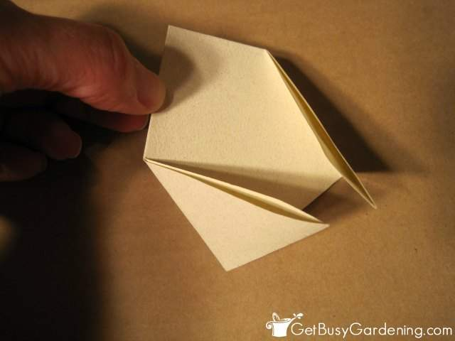 Fold In Two Corners For DIY Seed Envelope