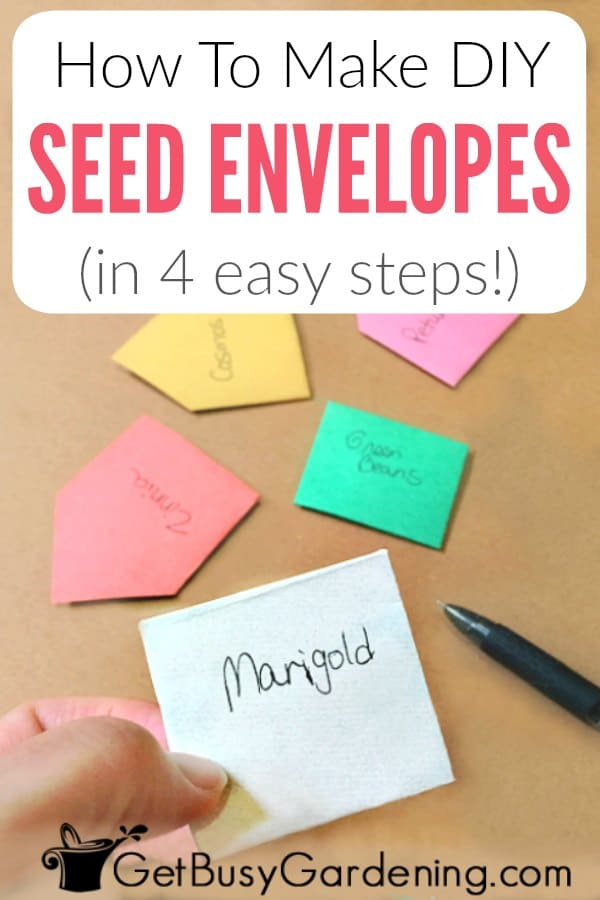 Follow this simple tutorial for how to make your own DIY seed packets. These easy handmade seed envelopes are the perfect design for trading and storing seeds, for inexpensive and cute crafts for wedding favors, or giving as gifts. Use them for any type of gardening seeds, including flower or vegetable seeds. Get the full instructions with tons of inspiration and ideas for customizing them.