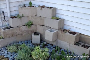 Building a Concrete Block Planter