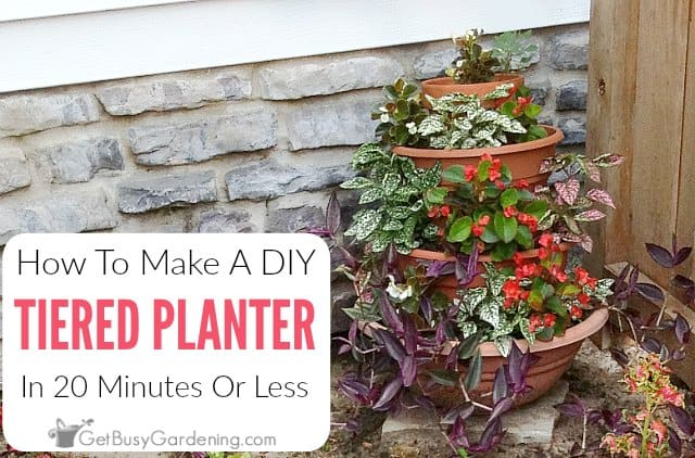 How To Make An Easy DIY Tiered Planter