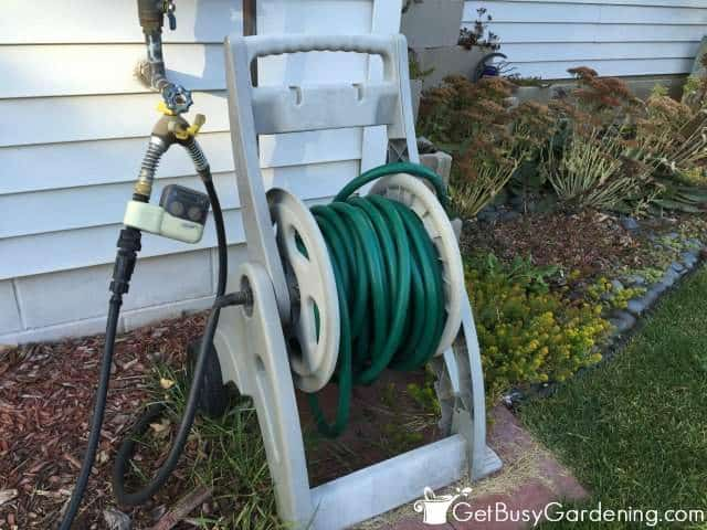 Winterize garden hose in the fall