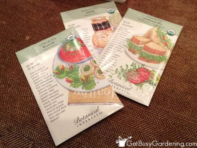 Seeds Used To Grow Sprouts At Home