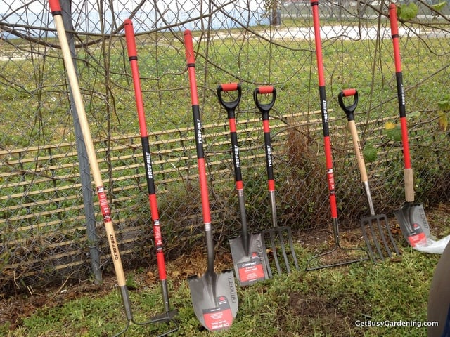 Troy-Bilt hand tools waiting to get dirty
