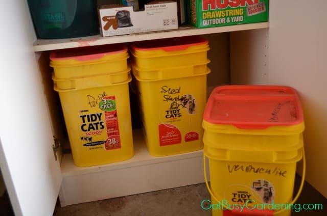 Buckets To Store Garden Supplies