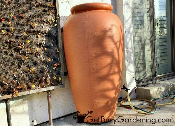 Rain barrels are used for rainwater harvesting