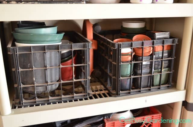 Store Pots In Crates