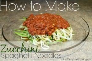 How To Make Zucchini Spaghetti Noodles