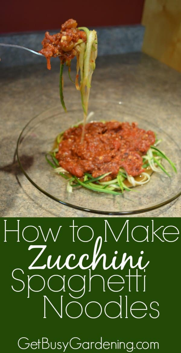 Learn How to Make Zucchini Spaghetti Noodles. It only takes a few minutes to turn an entire zucchini harvest into a huge bowl of spaghetti noodles.