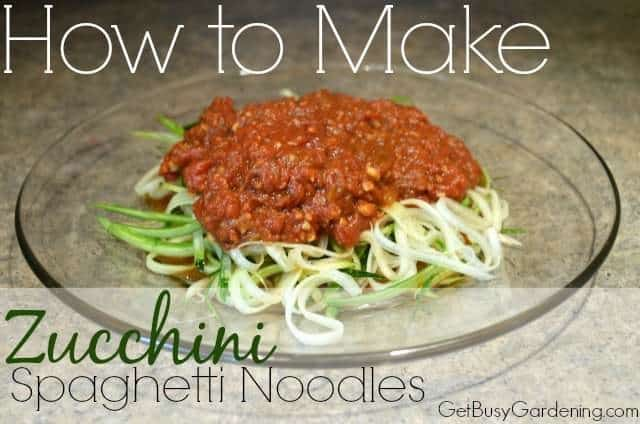 How to Make Zucchini Spaghetti Noodles