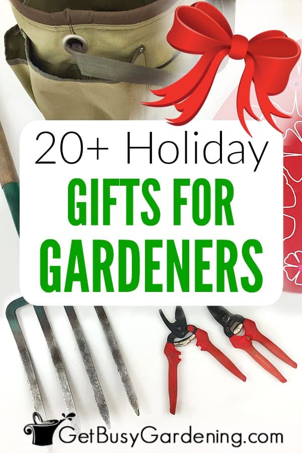 It can be hard to find the perfect gifts for gardeners, especially if you're not a gardener yourself! This gift guide for gardeners is jam-packed with tons of creative ideas for items they will love! Whether it be for Christmas or any other holiday, a birthday, housewarming gift, or some other special occasion... you'll find the perfect present on this list. Great for anyone - mom or dad, beginning gardeners, or the gardener who has everything!