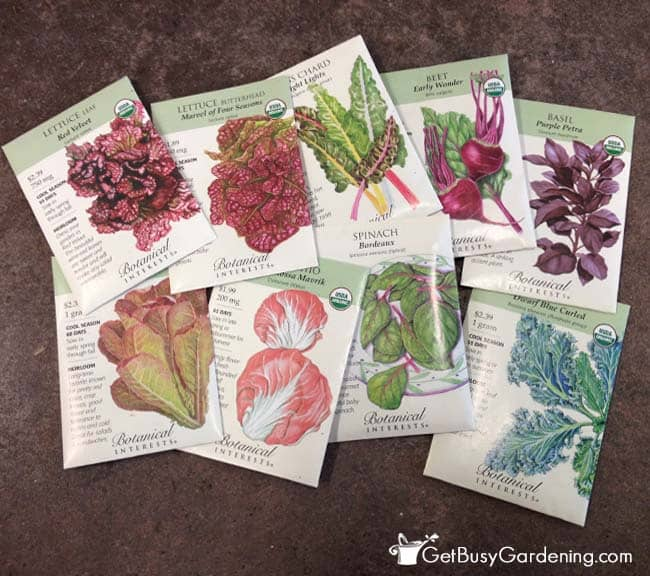Various seeds that can be used for winter sowing