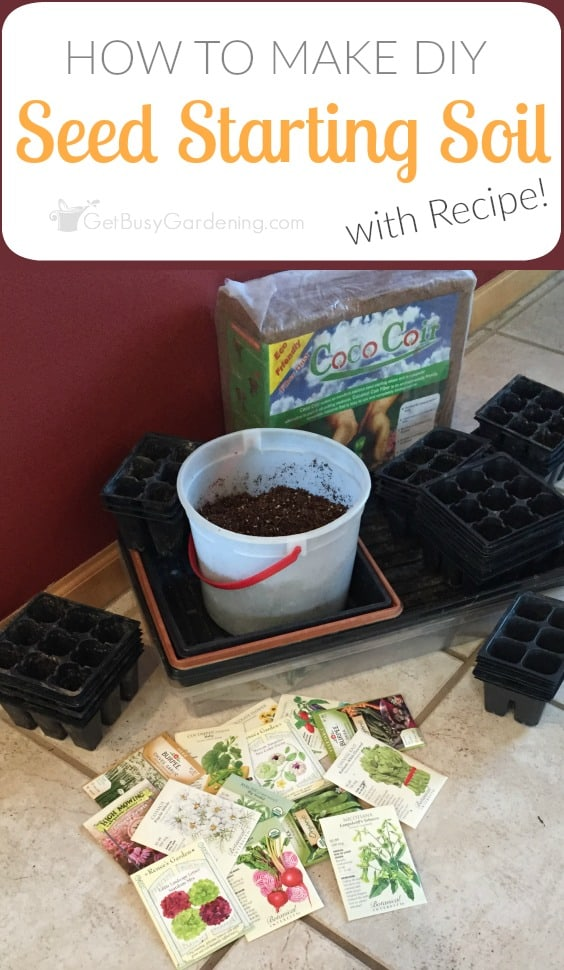 Save money and make the best seed starting mix for growing seeds! Here's my easy recipe and full instructions for how to make your own seed starting mix.