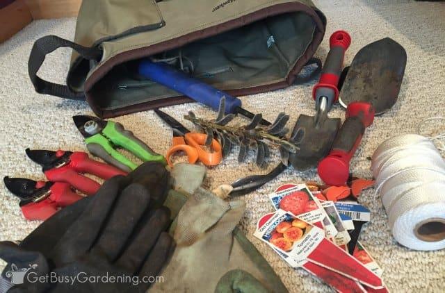 My Gardening Bag Unpacked