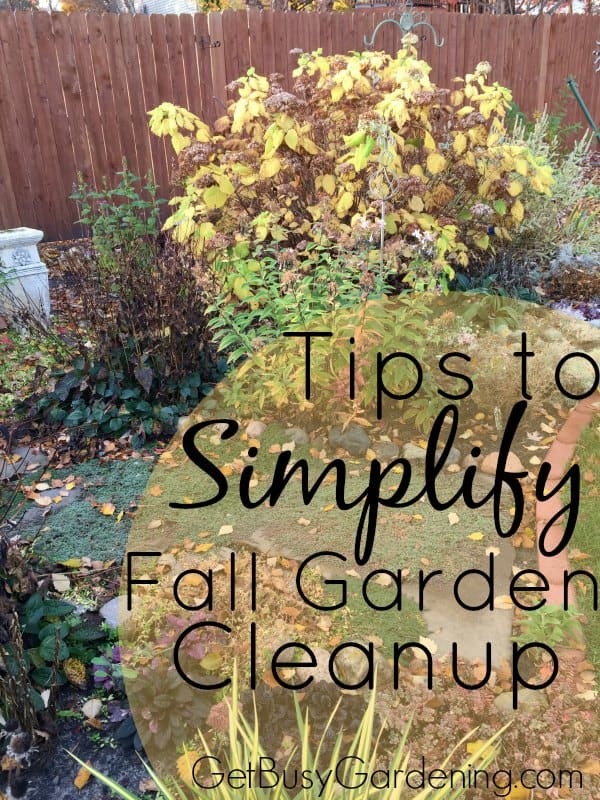 Fall is a crazy time of year! If fall garden cleanup stresses you out, here are some shortcuts you can take to simplify your fall garden to do list.