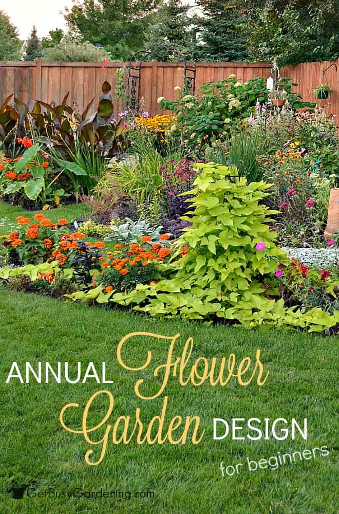 Annual flower garden design for beginners for Easy to care for garden designs