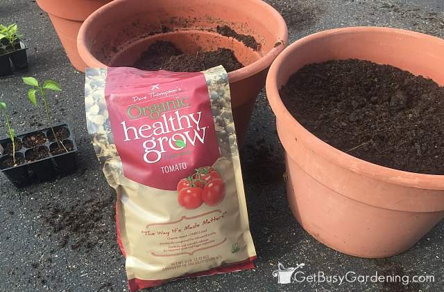 Healthy Grow organic tomato fertilizer