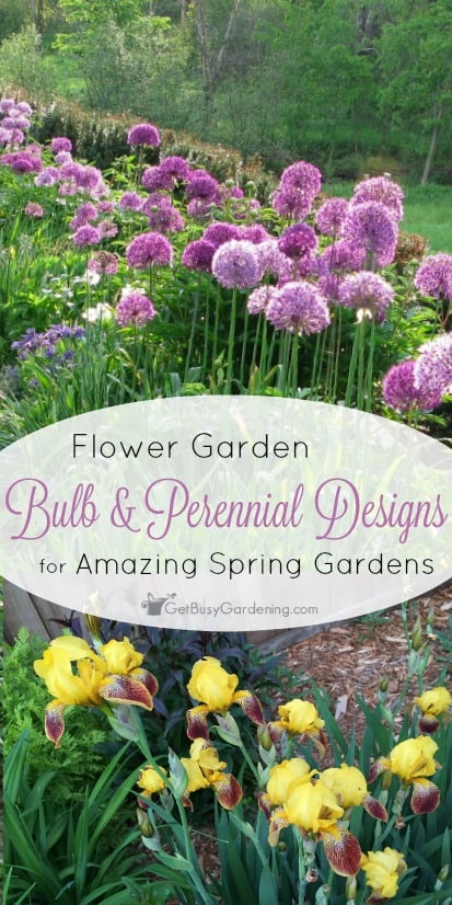 Flower garden bulb and perennial designs for amazing spring gardens you can add bulbs to an existing perennial bed for amazing spring color and alliums mightylinksfo