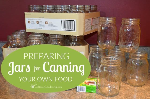 Preparing jars for canning your own food