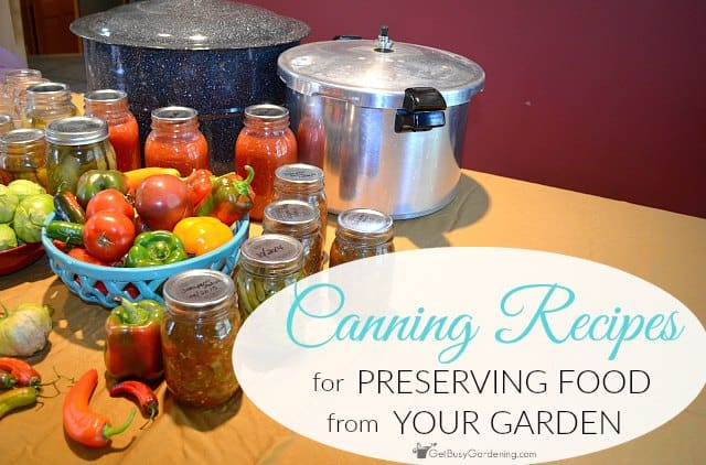 Food canning recipes for preserving food from your garden get busy food canning recipes for preserving food from your garden forumfinder Image collections