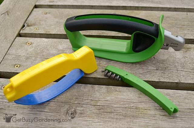 Great for sharpening garden tools