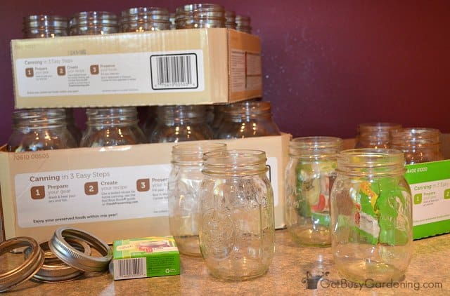 Used home canning jars
