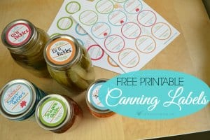 Free Printable Canning Labels!