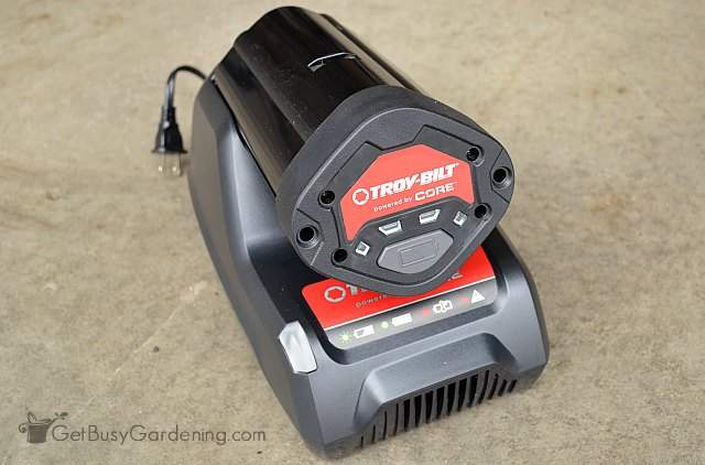 Troy-Bilt CORE power battery and charger