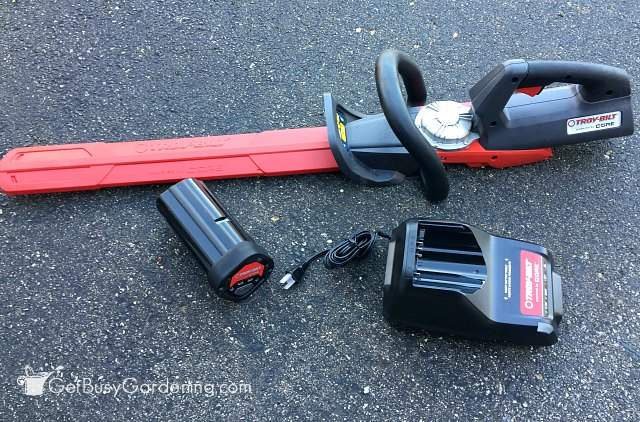 Troy-Bilt CORE powered hedge trimmer