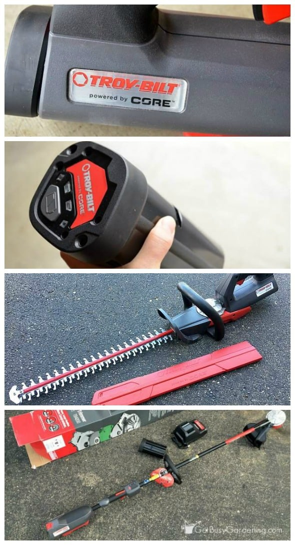 CORE is Troy-Bilt's new line of cordless power equipment. What makes CORE unique is the power comes from the motor, not the battery meaning longer runtimes. (AD)