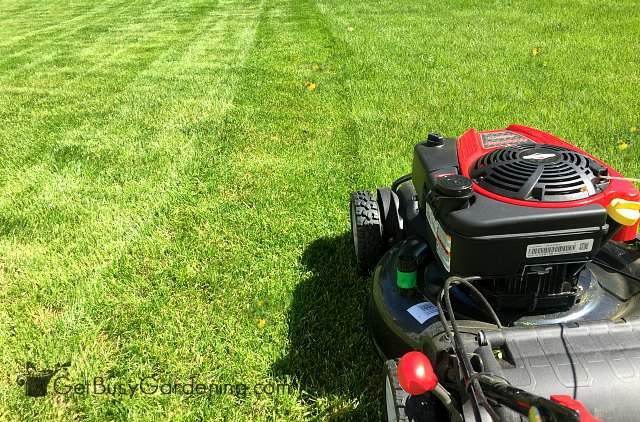 How to make lawn stripes