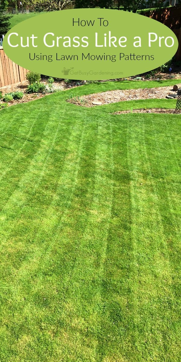 Learning the basic lawn mowing patterns will not only make your yard look amazing, it's also better for the grass, and it makes lawn care fun again! (AD)