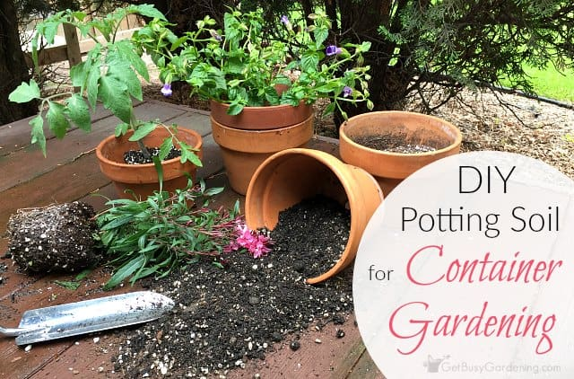 How to make potting soil for container gardening with for Garden soil or potting soil