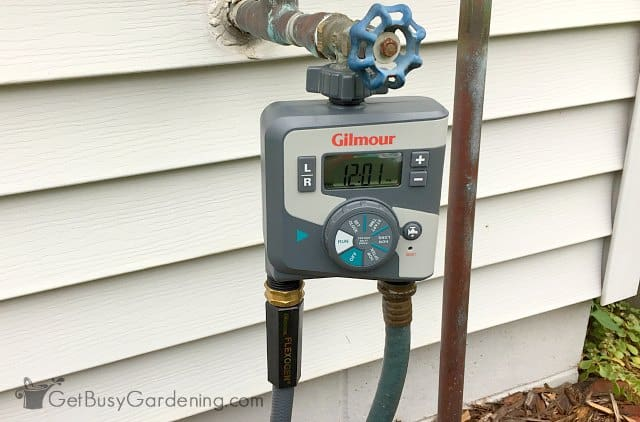 Garden watering timers are great to set up automatic garden watering