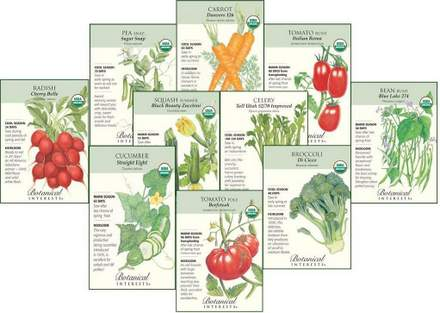 Organic Vegetable Seeds