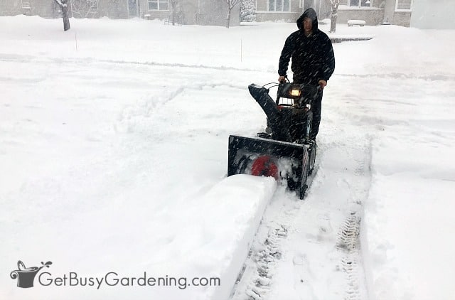 Troy-Bilt Vortex™ 3090 XP Snow Thrower in action