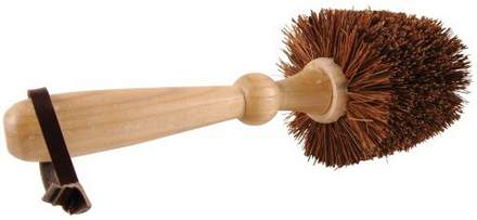 Flower pot bristle brush