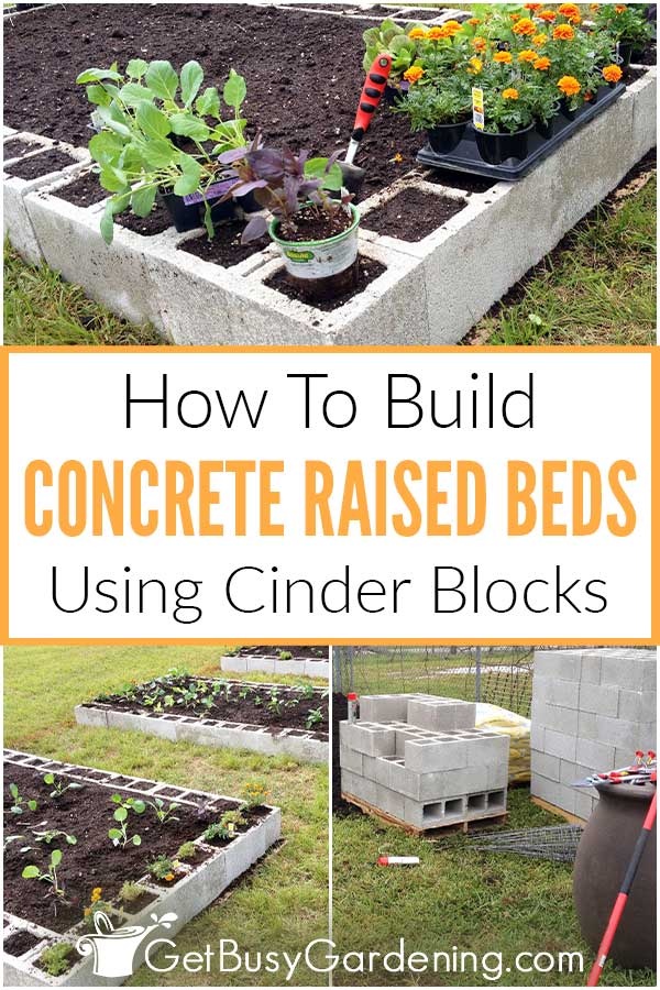How To Build Concrete Raised Beds Using Cinder Blocks