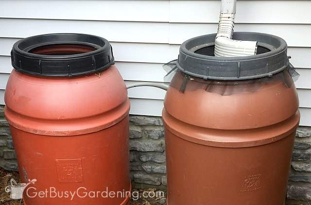 Connecting rain barrels together for a simple rainwater collection system