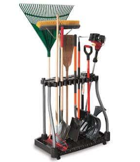 Long-handled garden tool organizer