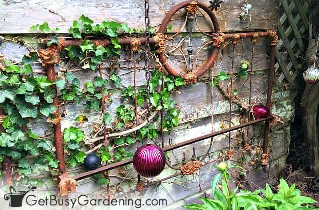 Metal rusts, but is still good to use for making trellises