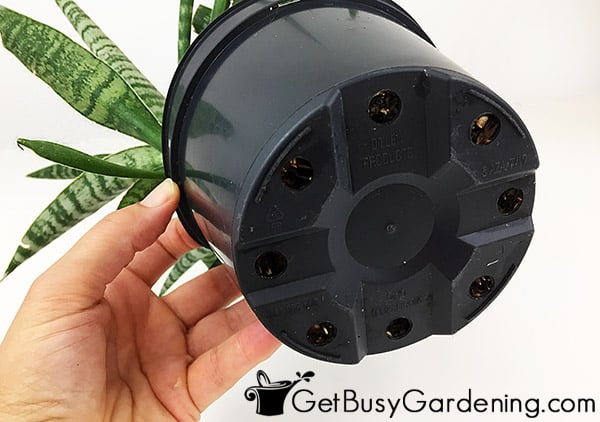 Pot with proper drainage for indoor plants