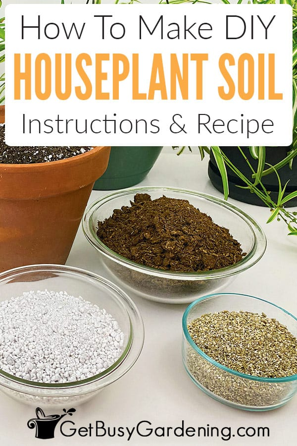 DIY houseplant potting soil