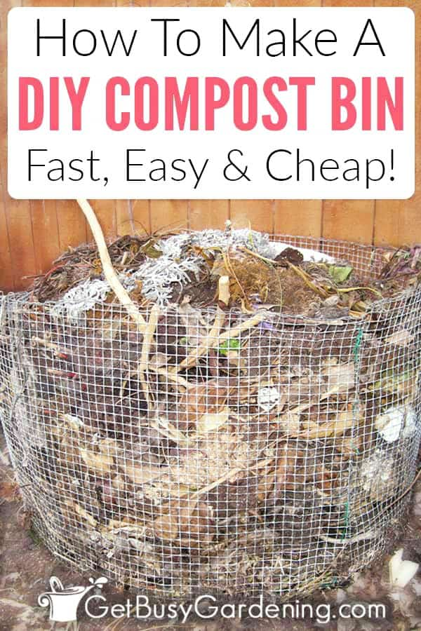 How To Make A DIY Compost Bin Fast, Easy & Cheap!