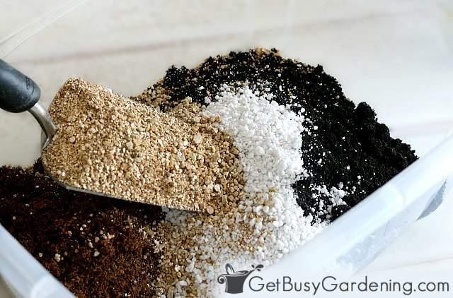 Making my own potting soil