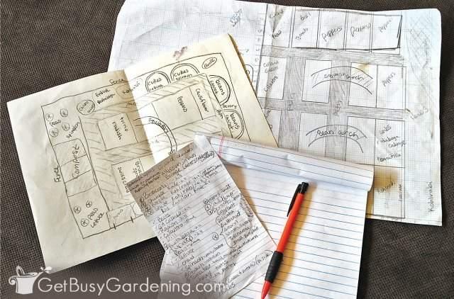 Plotting my veggie garden layout