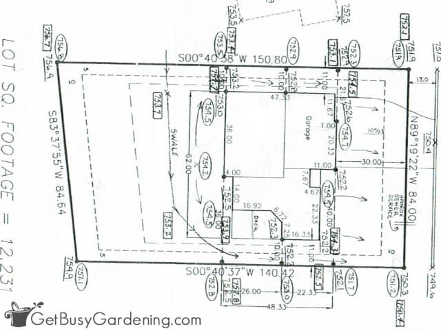 Lot survey map of my property